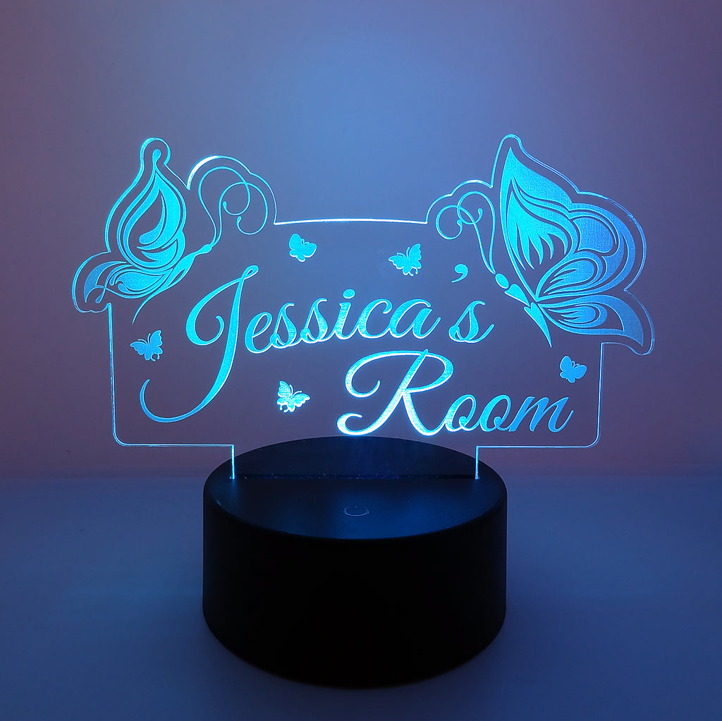 Personalised Butterfly LED Night Light