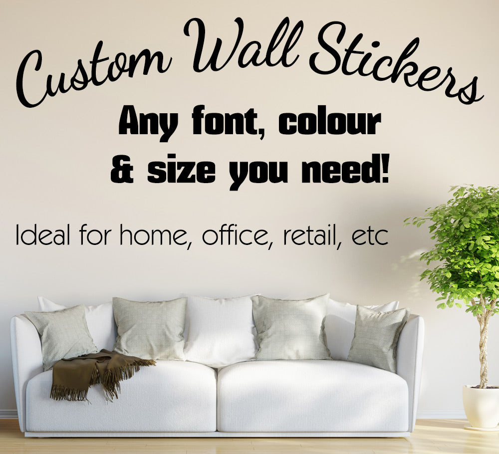 personalised wall sticker custom text smarty walls