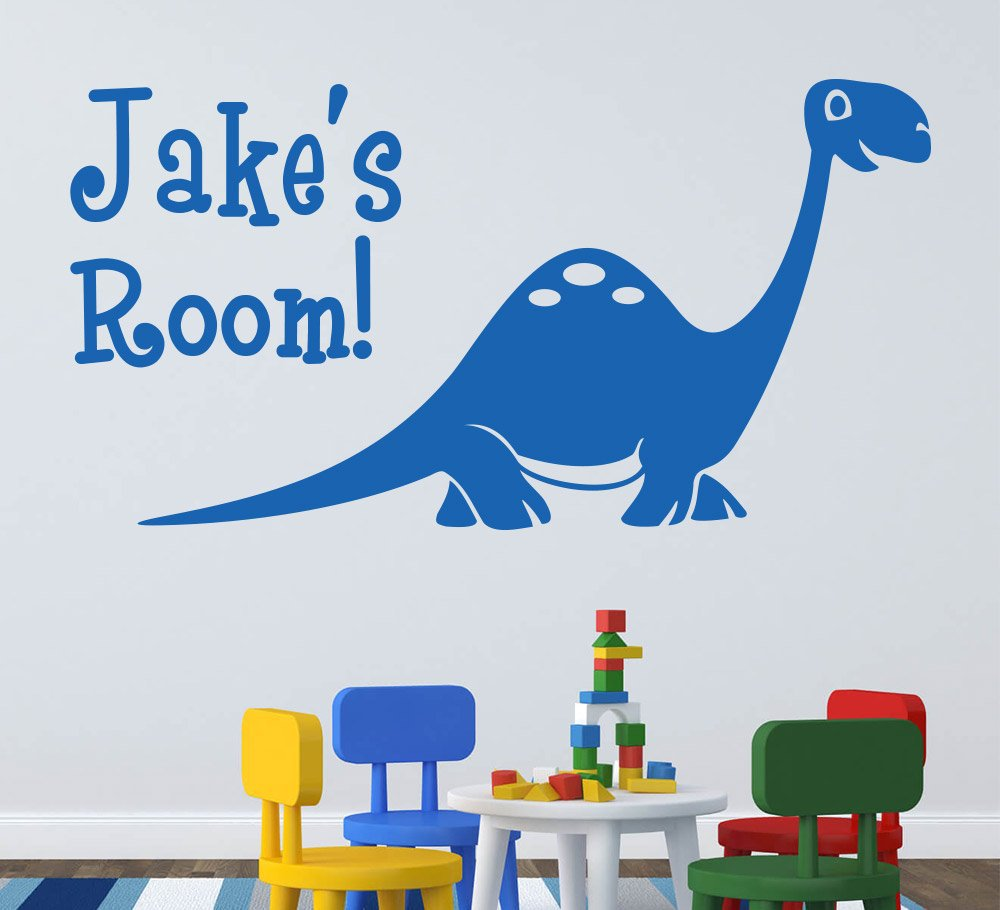 Cute Dinosaur Diplodocus Wall Sticker Personalised