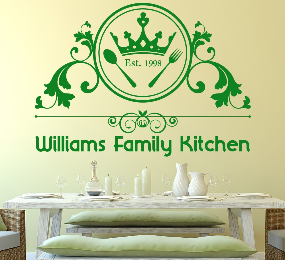 Kitchen wall stickers and wall art for the family dining area ...