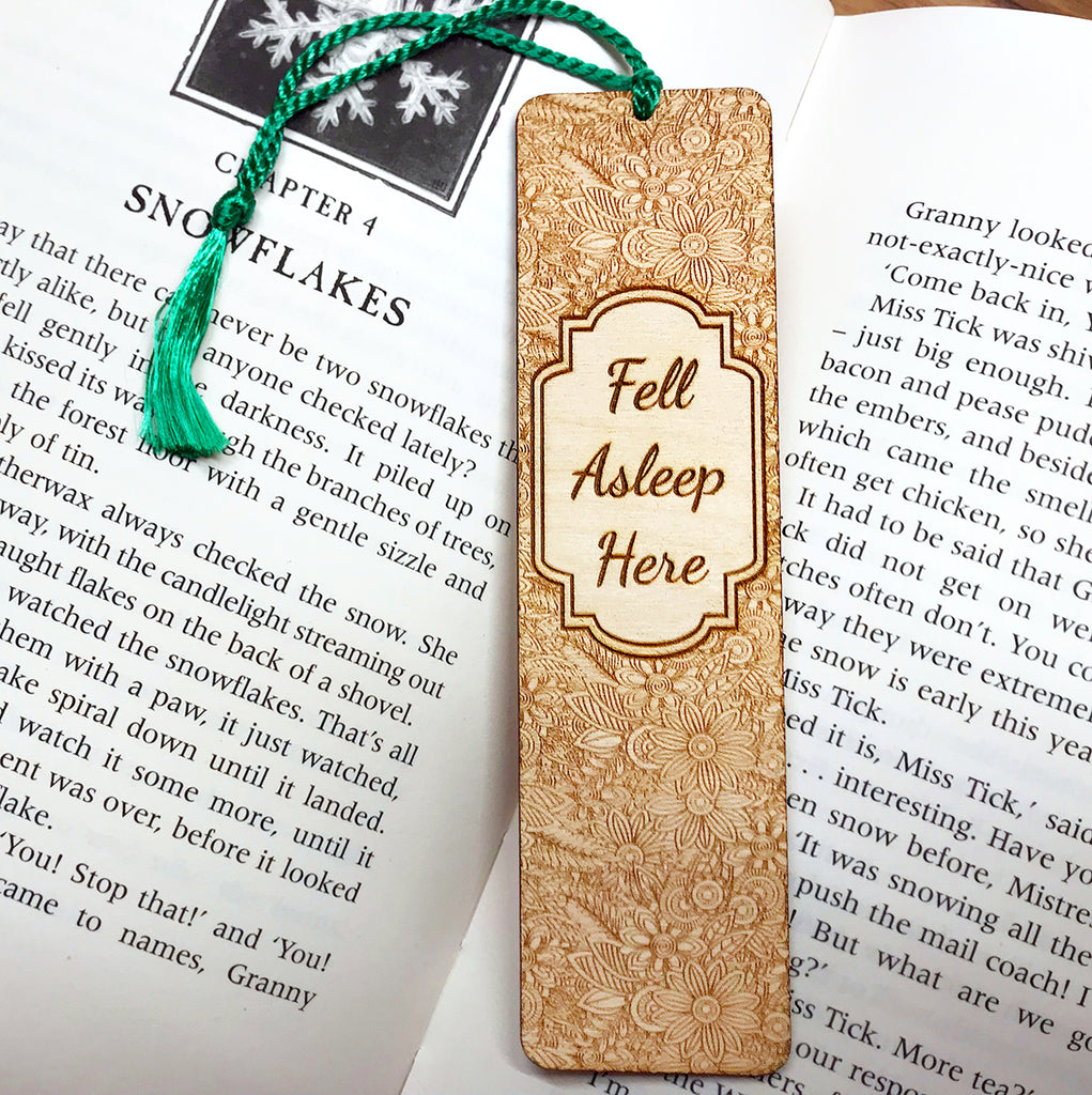 Personalised Wooden Bookmark - Floral Design