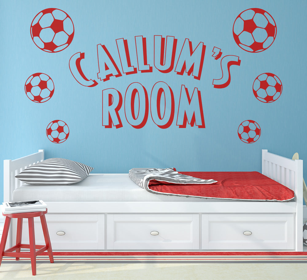 Footballs Personalised Wall Art Sticker