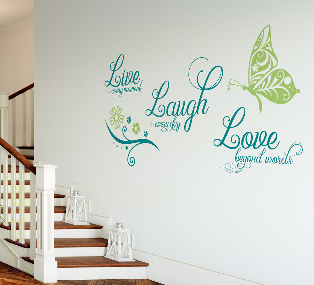 Live Laugh Love Wall Art Sticker