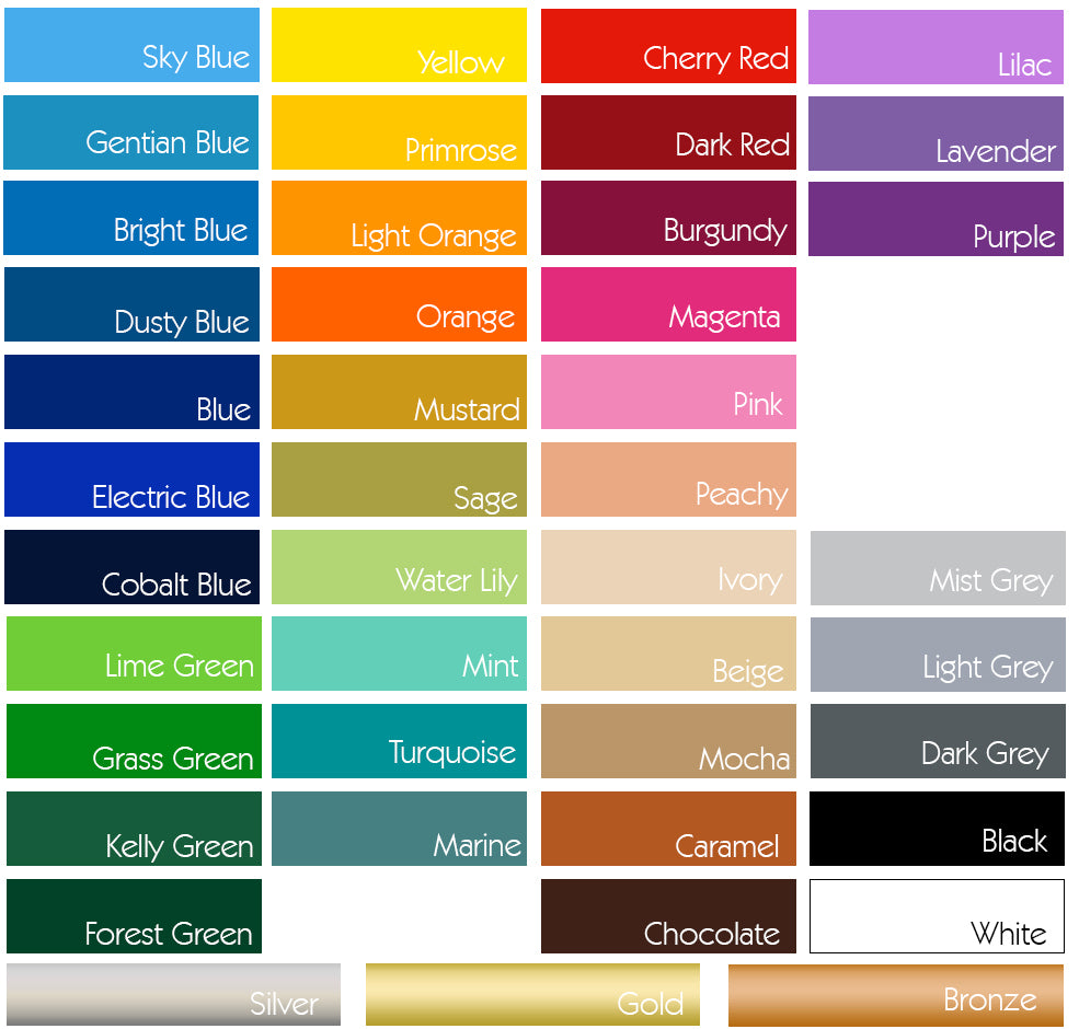 Colour Samples Wall Sticker Test Pack