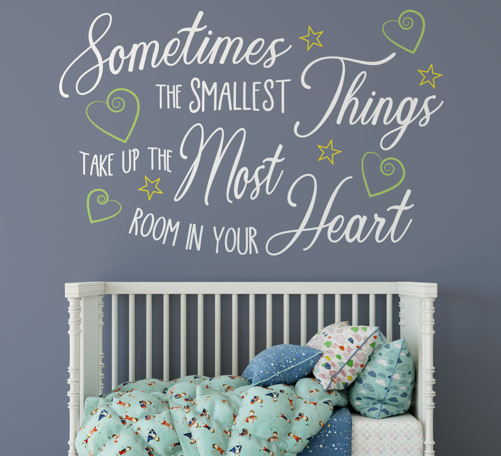Sometimes the Smallest Things Wall Sticker Quote