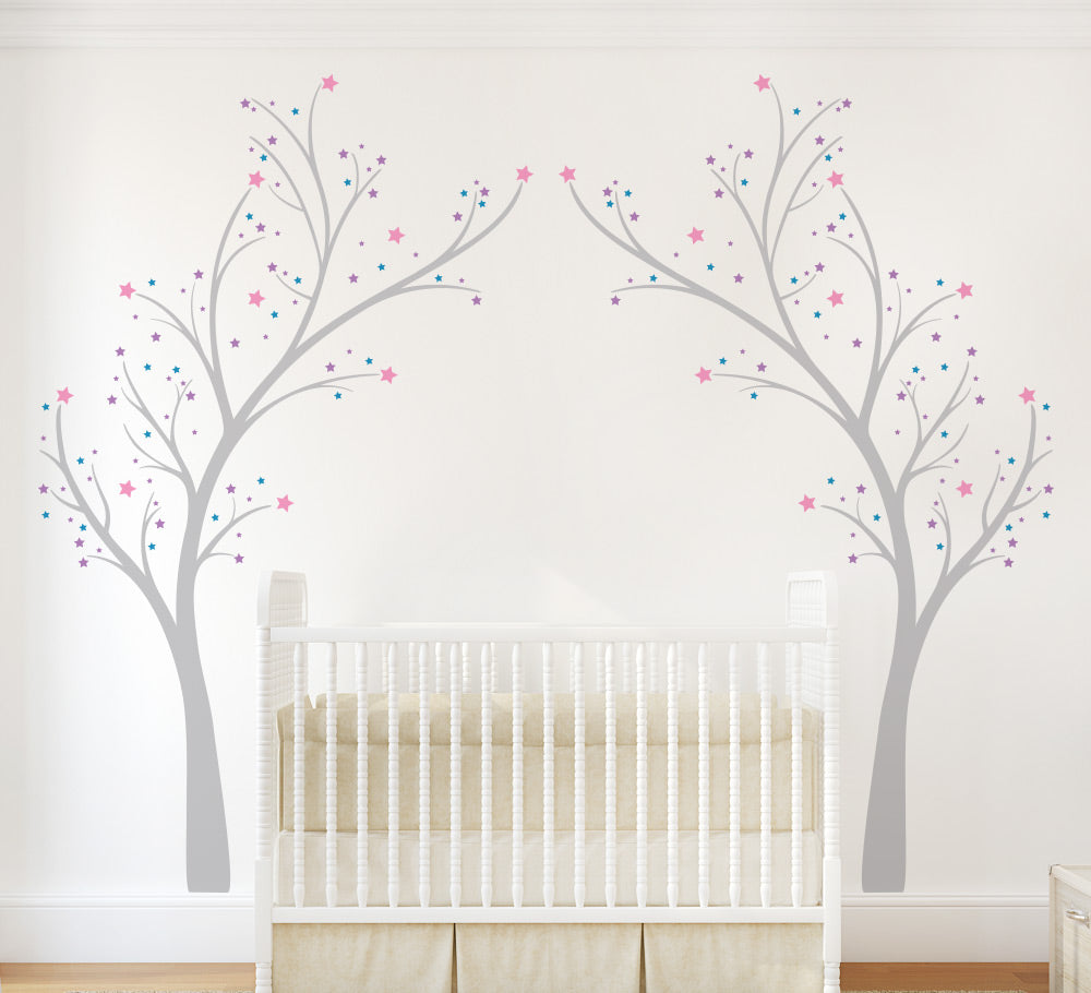 Twinkle Star Tree Wall Sticker Nursery Decal