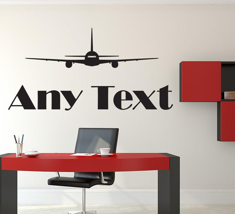Aeroplane Wall Sticker Personalised Decal