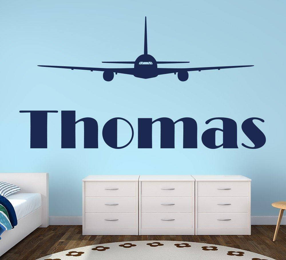 personalised aeroplane wall sticker, airplane decal