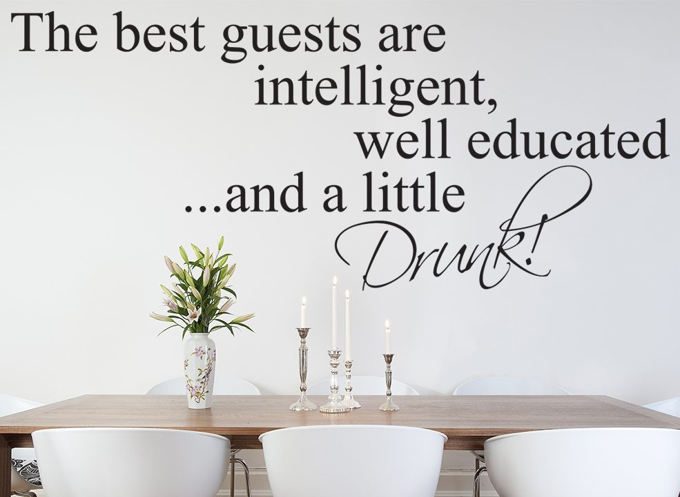 The Best Guests Wall Sticker