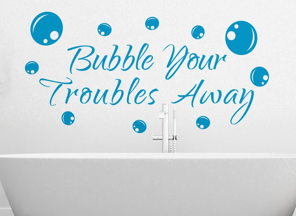 Bubbles Bathroom Wall Art Sticker