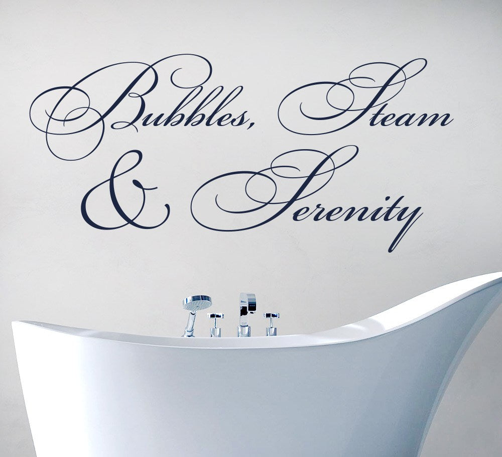 Bubbles Steam and Serenity Bathroom Wall Sticker