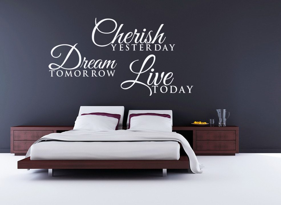 Dream Tomorrow Live Today Wall Art Sticker