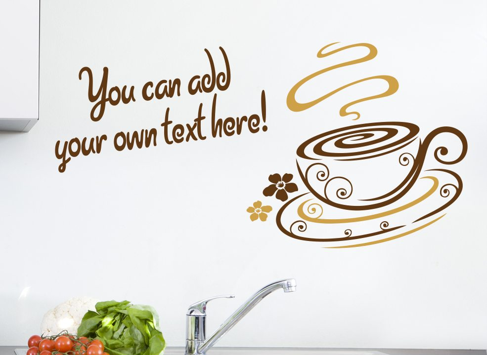 Coffee Wall Sticker swirl cup