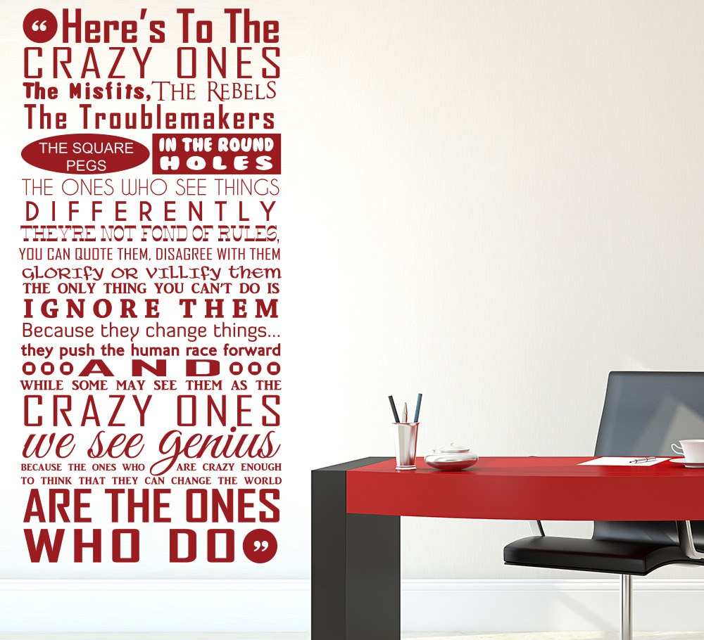 The Crazy Ones Wall Art Sticker