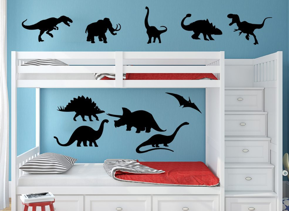 Dinosaur Bundle Wall Art Sticker Personalised