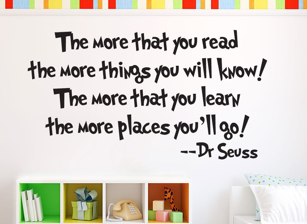 Dr Seuss Wall Sticker More that you read