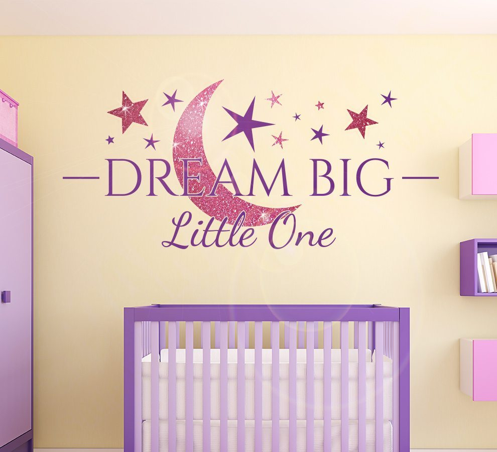 Dream Big Little One Sparkly Wall Sticker Smarty Walls