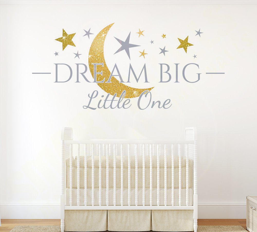 Dream Big Little One Sparkly Wall Sticker