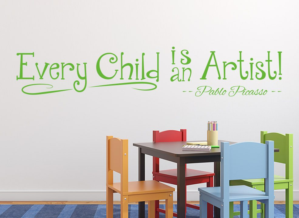 Every Child Is An Artist Wall Art Sticker