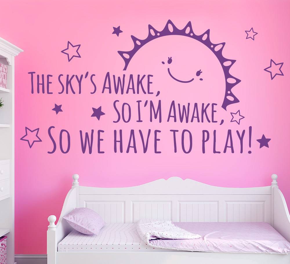 Frozen The Skys Awake Wall Art Sticker