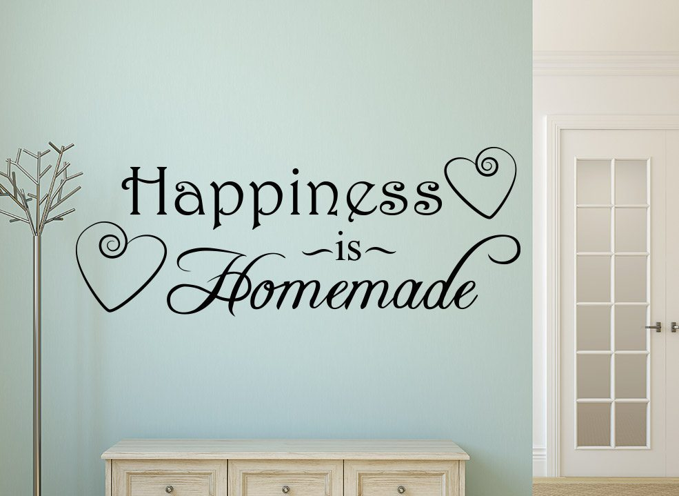 happiness is homemade wall art sticker – smarty walls