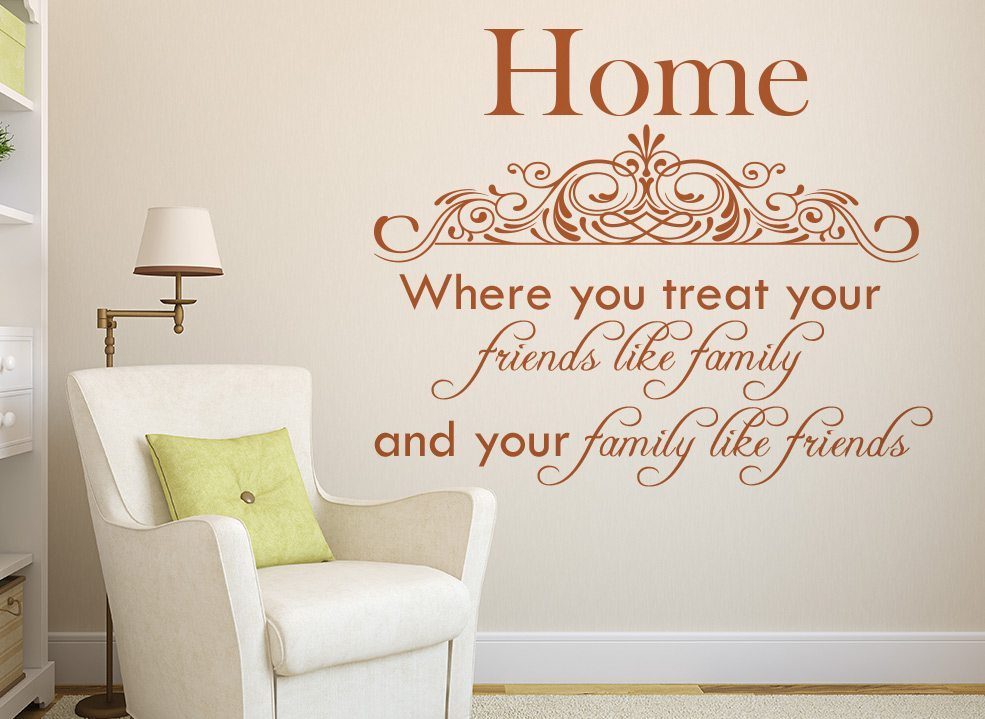 Home Friends Like Family Wall Sticker Decal