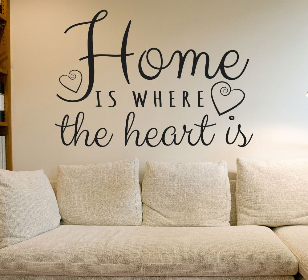 Home is where the heart is wall sticker