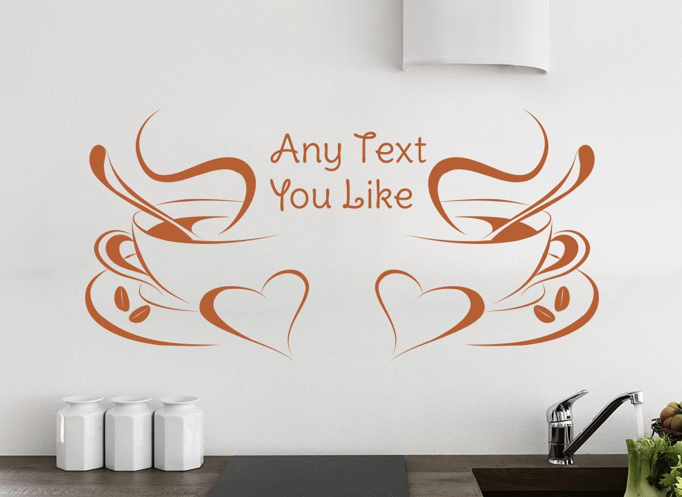 Morning Coffee Kitchen Wall Art Sticker