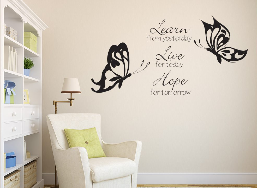 Learn Live Hope Quote Wall Sticker Decal Art