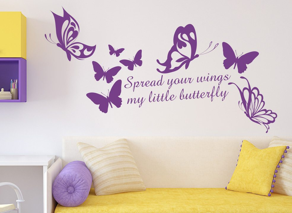spread your wings wall sticker decal art – smarty walls