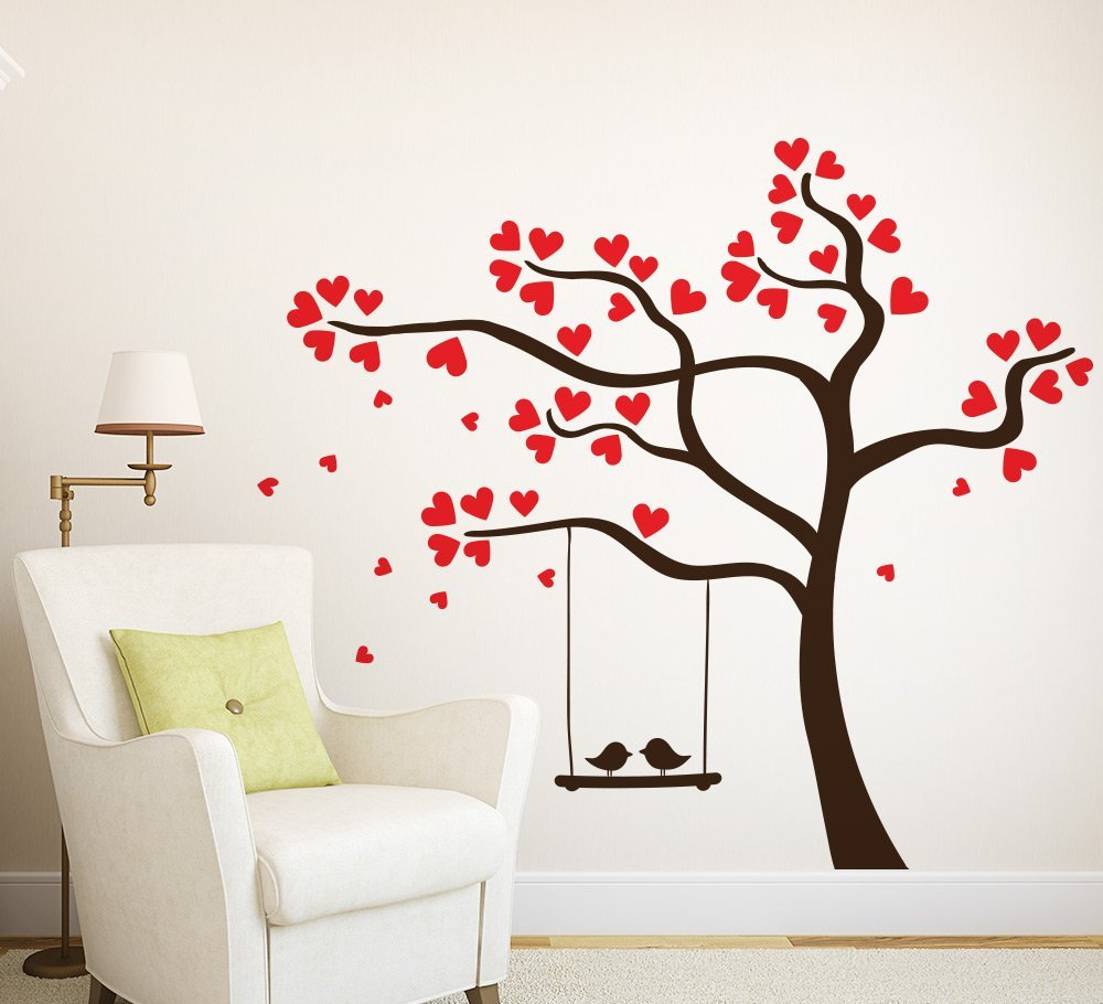 Love birds in a Tree Wall Art Sticker