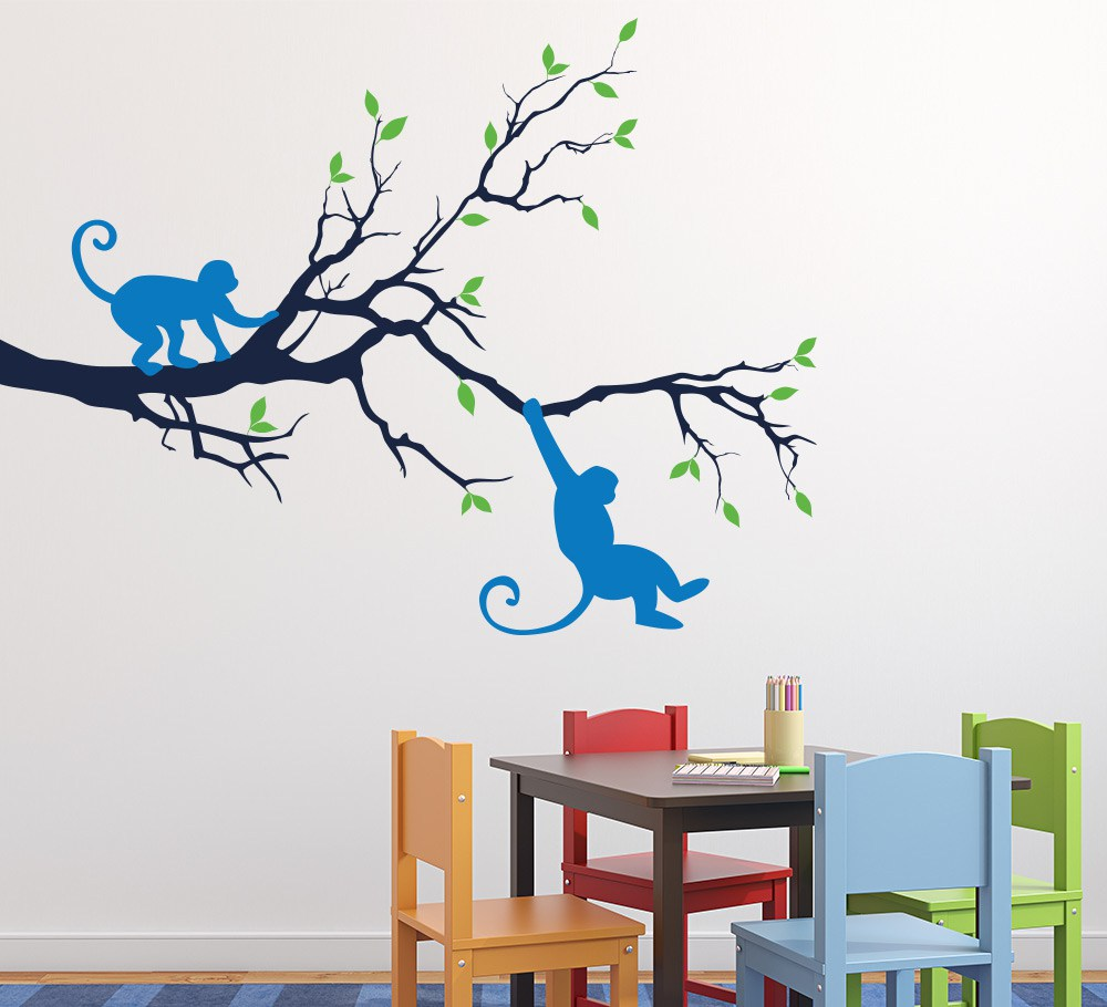 Monkey In The Tree Wall Art Sticker