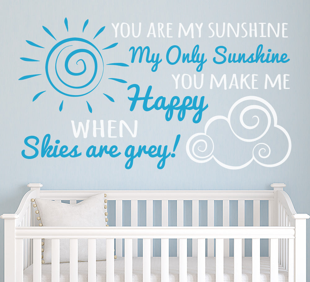 You are my sunshine Wall Art Sticker