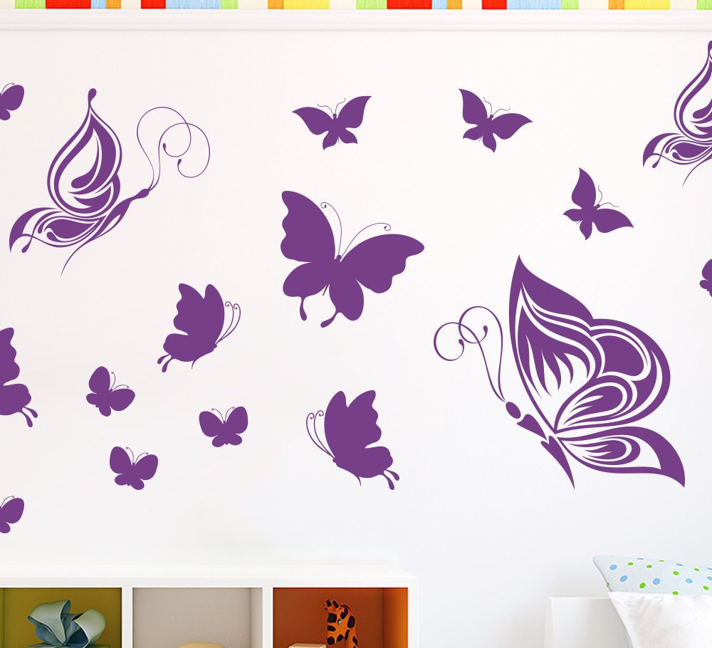 Butterfly Wall Stickers or Ceiling Stickers 40 Pack