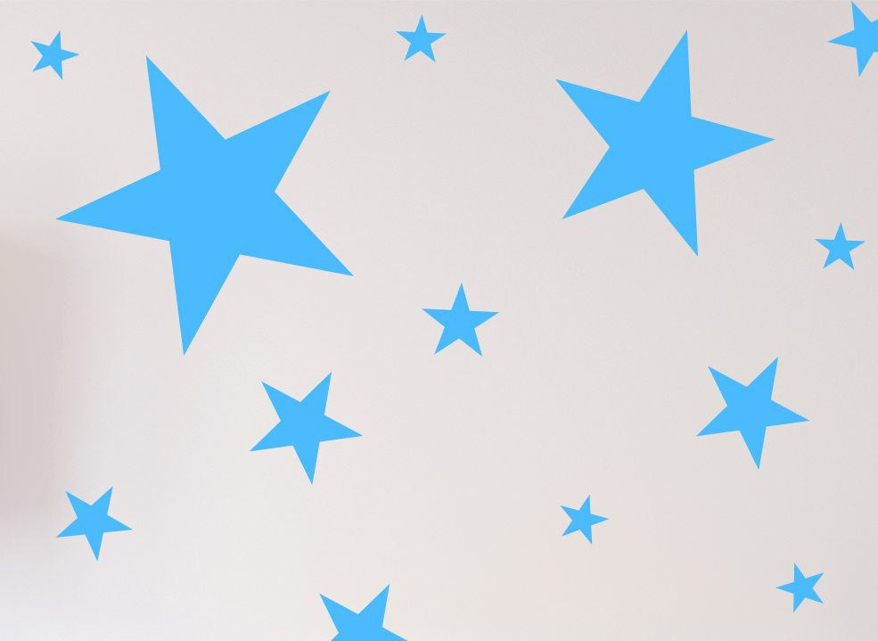 Star Wall Stickers or Ceiling Stickers 100 Pack