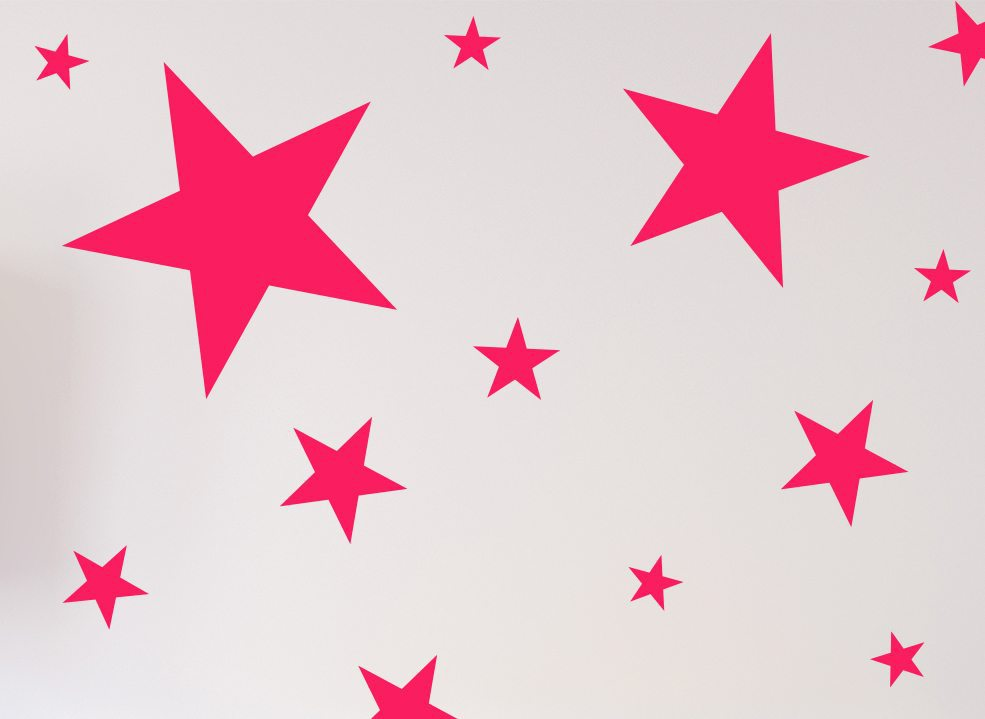 Star Wall Stickers or Ceiling Stickers 20 Pack