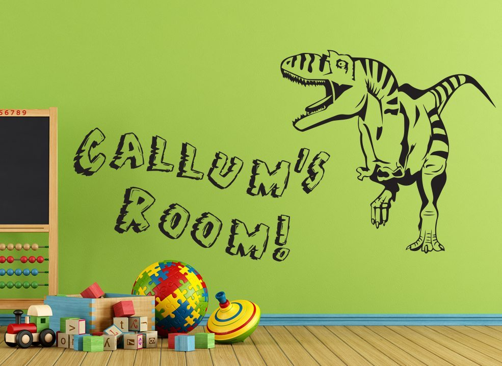 Dinosaur Wall Sticker - Personalised T-Rex Decal