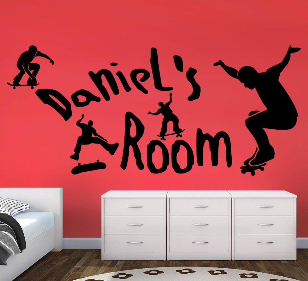 Skateboarders Park Wall Art Sticker Personalised
