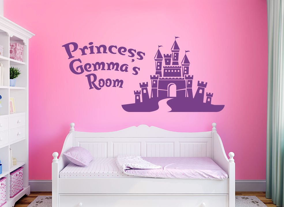 Personalised Princess Castle Wall Sticker Fairytale Palace