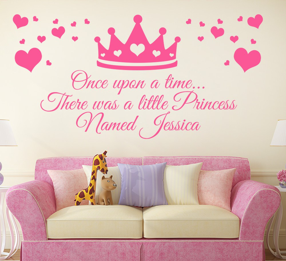 Princess Wall Sticker Personalised Princess Crown