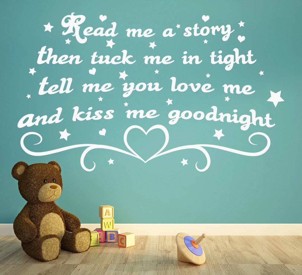 Read Me A Story Kids Bedroom Wall Art Sticker