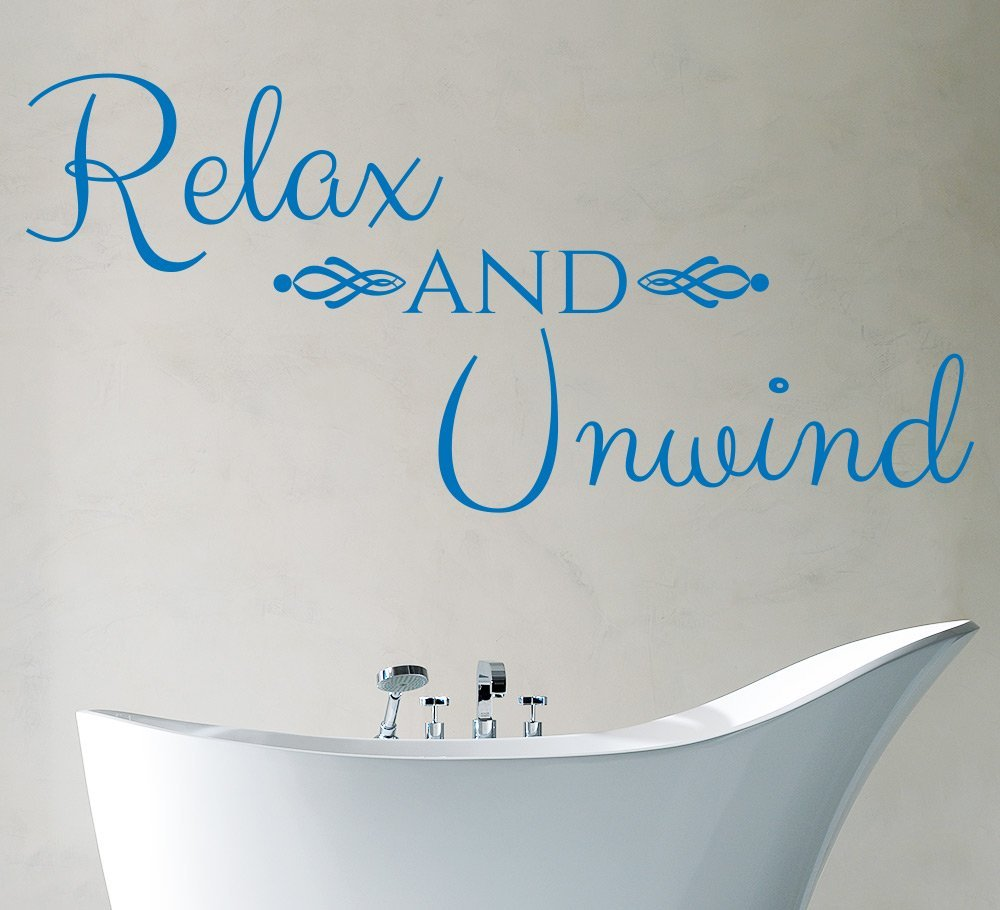 Relax and Unwind Bathroom Wall Art Sticker