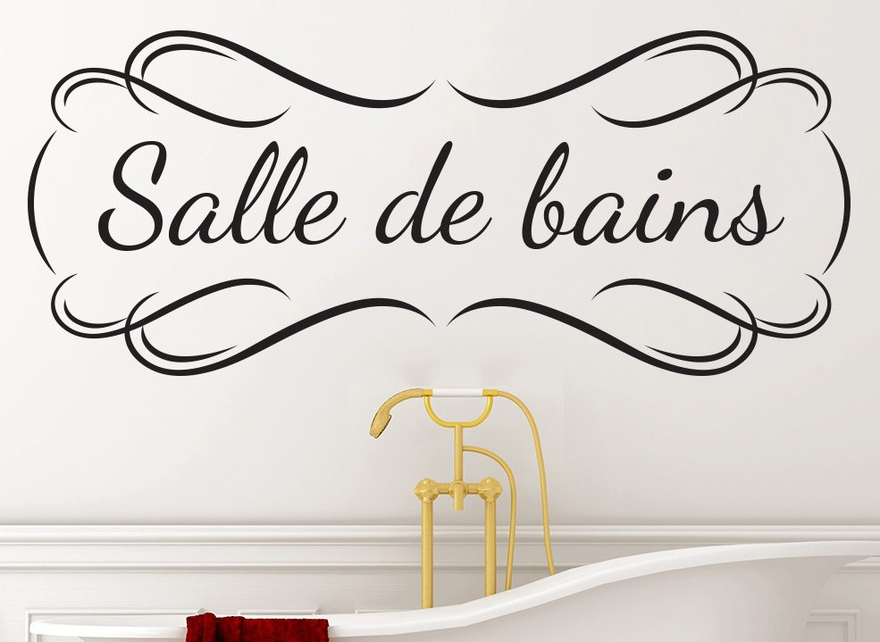 Salle de bains Bathroom Wall Art Sticker