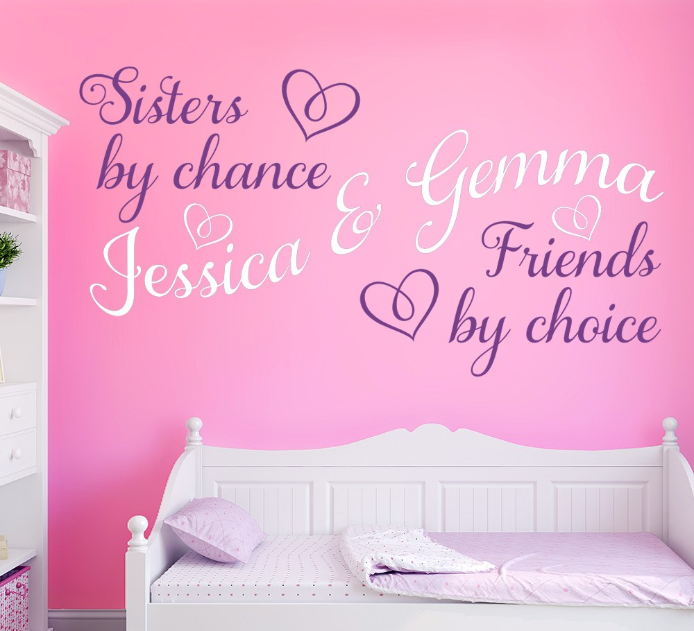 Sisters By Chance Friends by Choice Wall Sticker