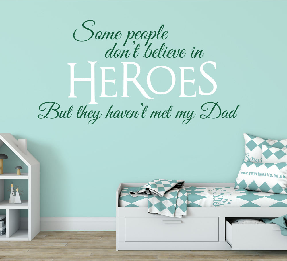 Believe In Heroes Wall Art Sticker