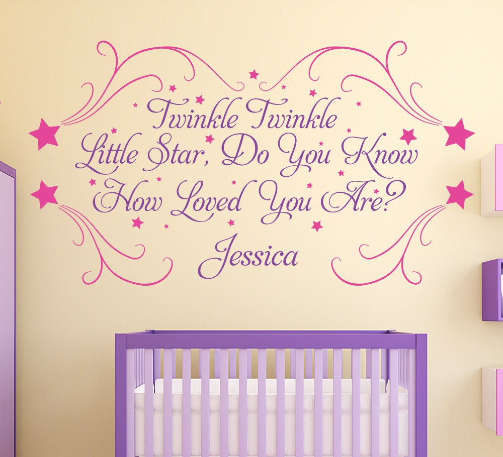 Twinkle Little Star Wall Art Sticker Personalised