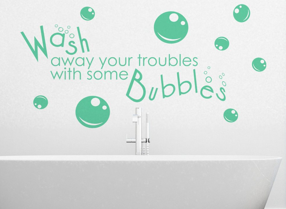 Wash Away Bathroom Wall Art Sticker