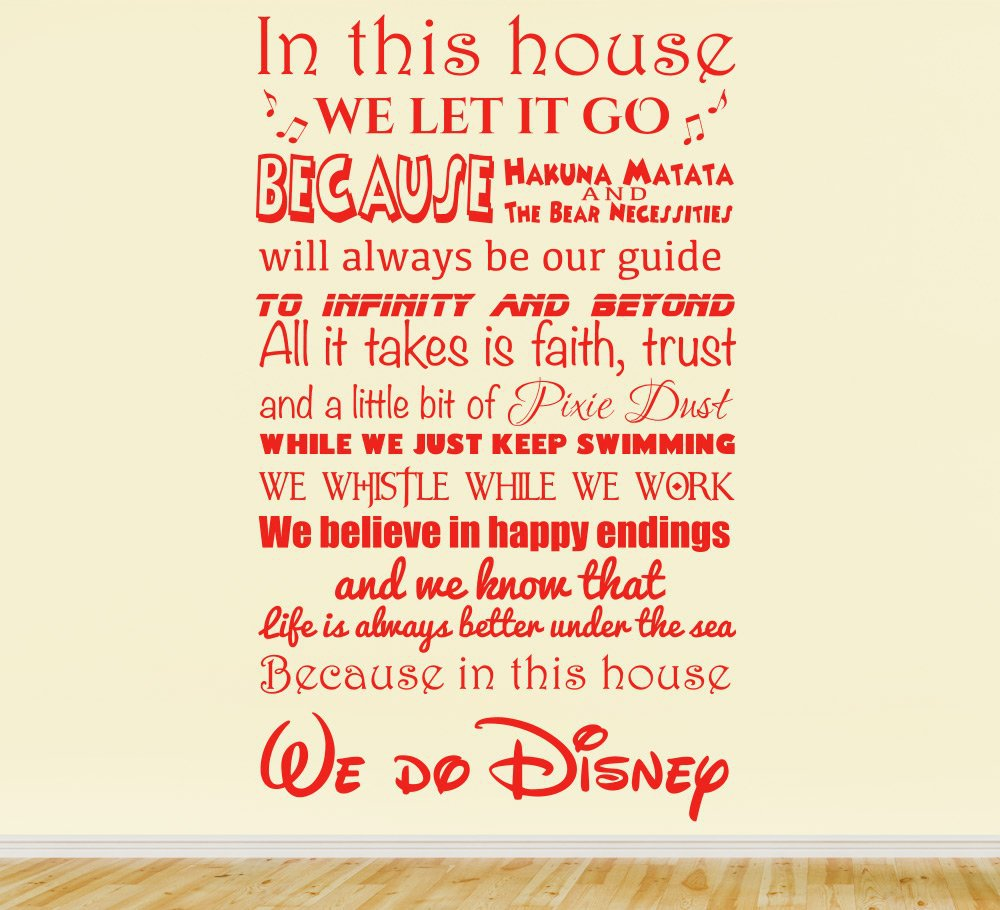 We Do Disney Wall Sticker quote