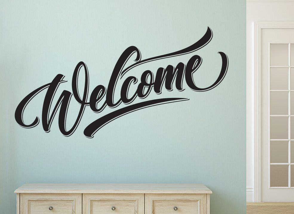 welcome home wall art sticker – smarty walls