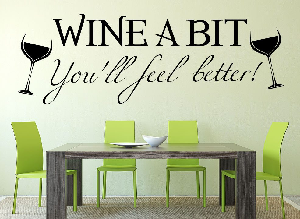 Wine A Bit Kitchen Wall Art Sticker